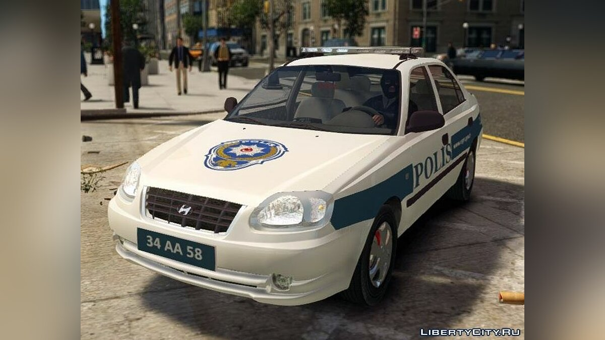 Hyundai Accent Admire Turkish Police ELS для GTA 4 - Картинка #4