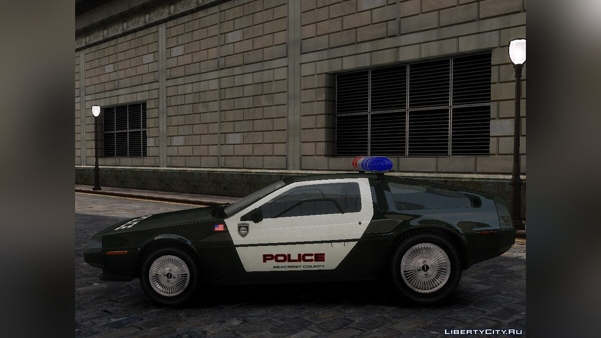 Delorean DMC-12 Police для GTA 4 - скриншот #2