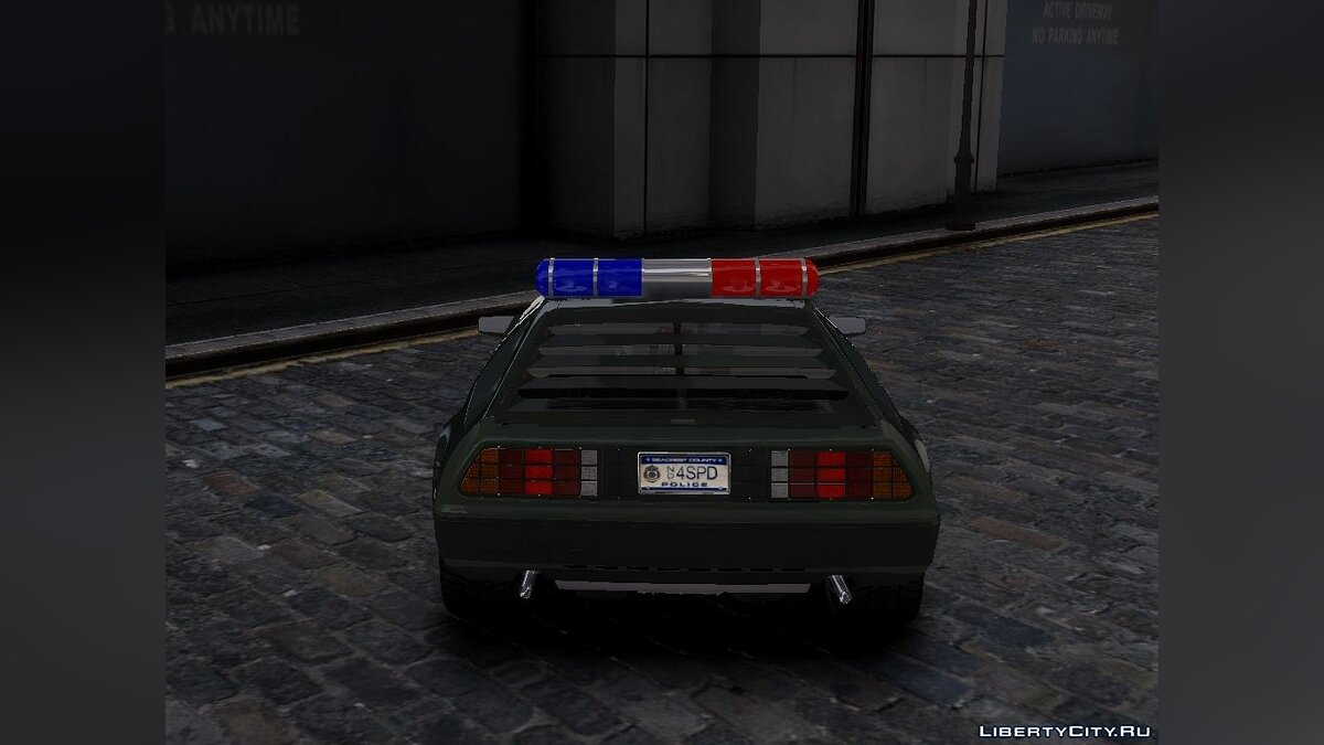 Delorean DMC-12 Police для GTA 4 - скриншот #3