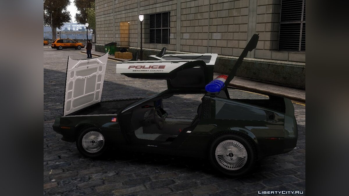 Delorean DMC-12 Police для GTA 4 - скриншот #4
