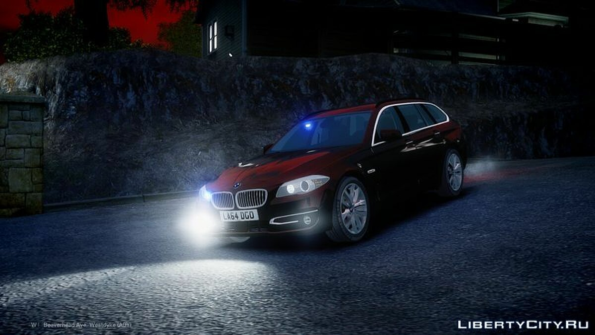 Unmarked 2014 Facelift BMW 525D F11 для GTA 4 - скриншот #2