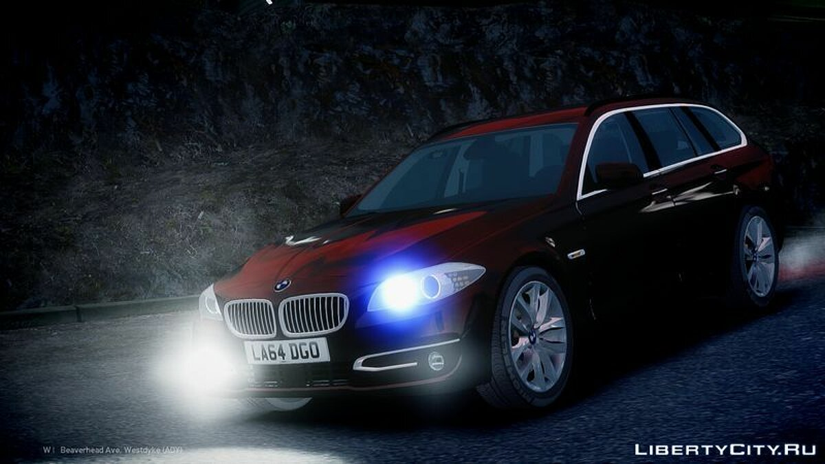 Unmarked 2014 Facelift BMW 525D F11 для GTA 4