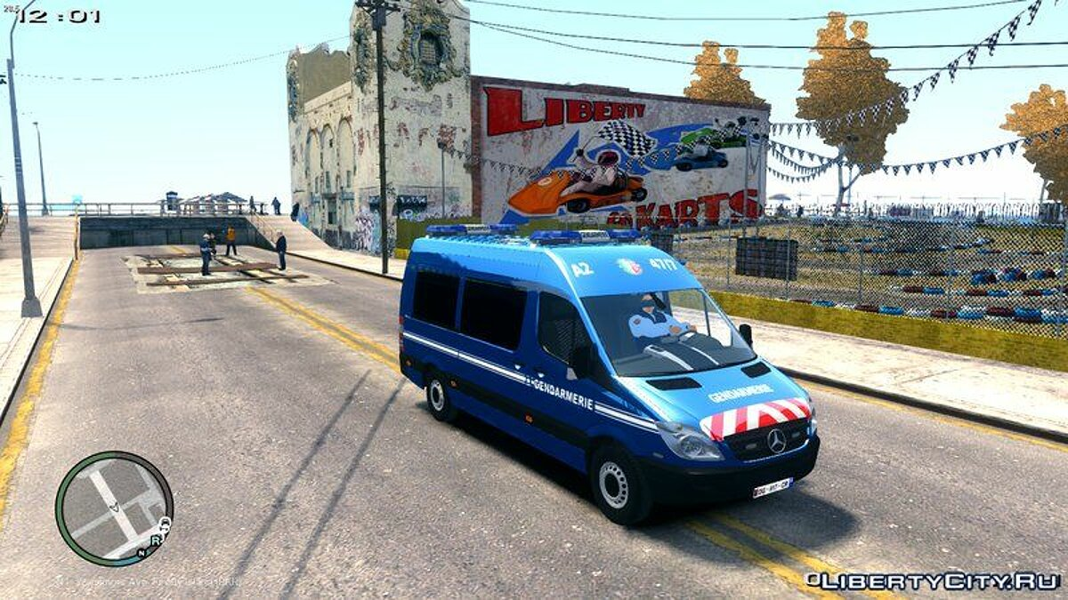 Mercedes Sprinter Gendarmerie Mobile 47/7 для GTA 4 - скриншот #4
