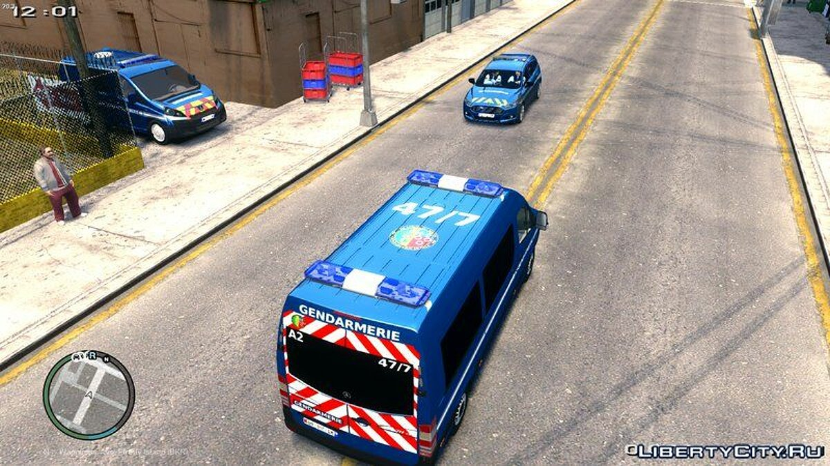 Mercedes Sprinter Gendarmerie Mobile 47/7 для GTA 4 - скриншот #3