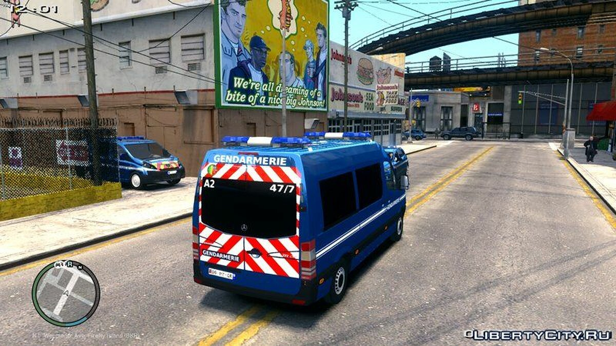 Mercedes Sprinter Gendarmerie Mobile 47/7 для GTA 4 - скриншот #2