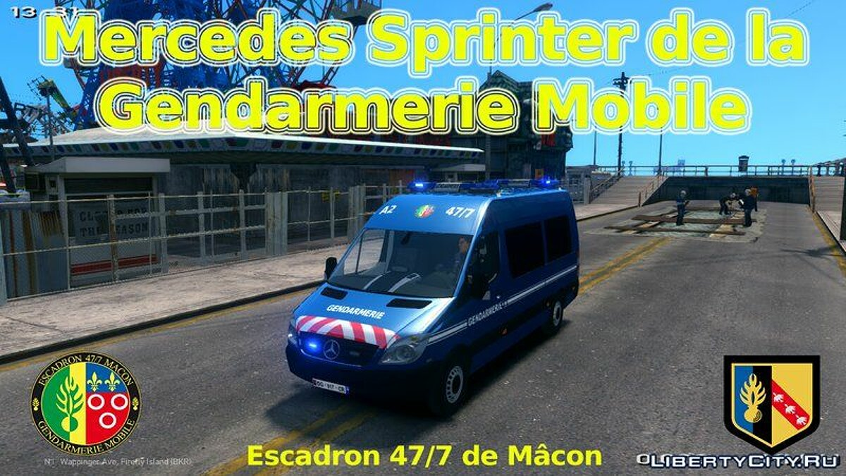 Mercedes Sprinter Gendarmerie Mobile 47/7 для GTA 4