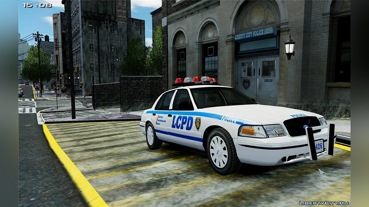NYPD/LCPD Crown Victoria FS Vision SLR v1.7 (NON ELS) для GTA 4
