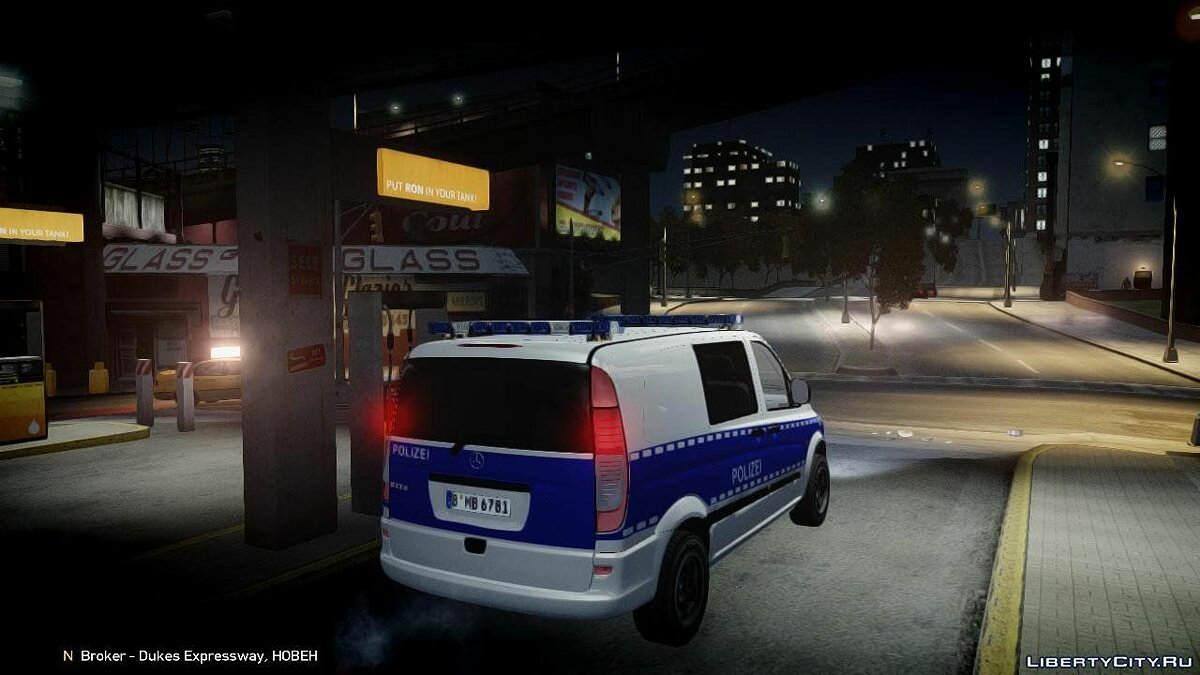 German Police Mercedes Benz Vito [ELS] для GTA 4 - Картинка #2