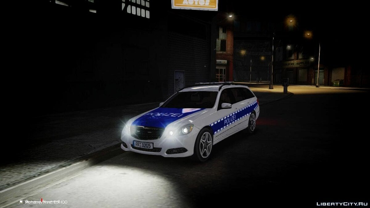 German Police Mercedes Benz E350 [ELS] для GTA 4