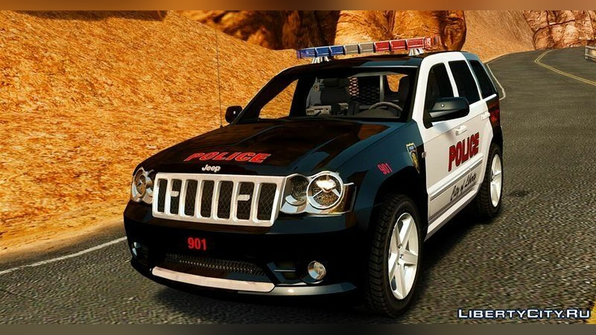 Jeep Grand Cherokee SRT8 2008 Police для GTA 4 - Картинка #1