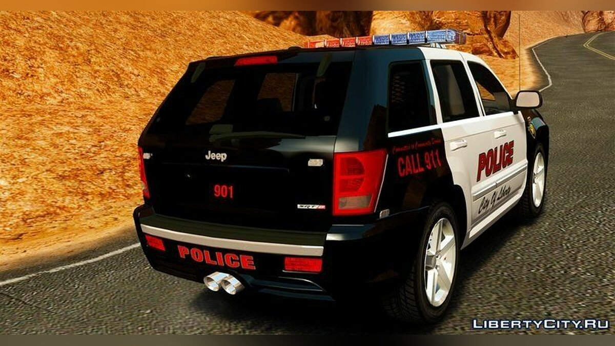 Jeep Grand Cherokee SRT8 2008 Police для GTA 4 - Картинка #2