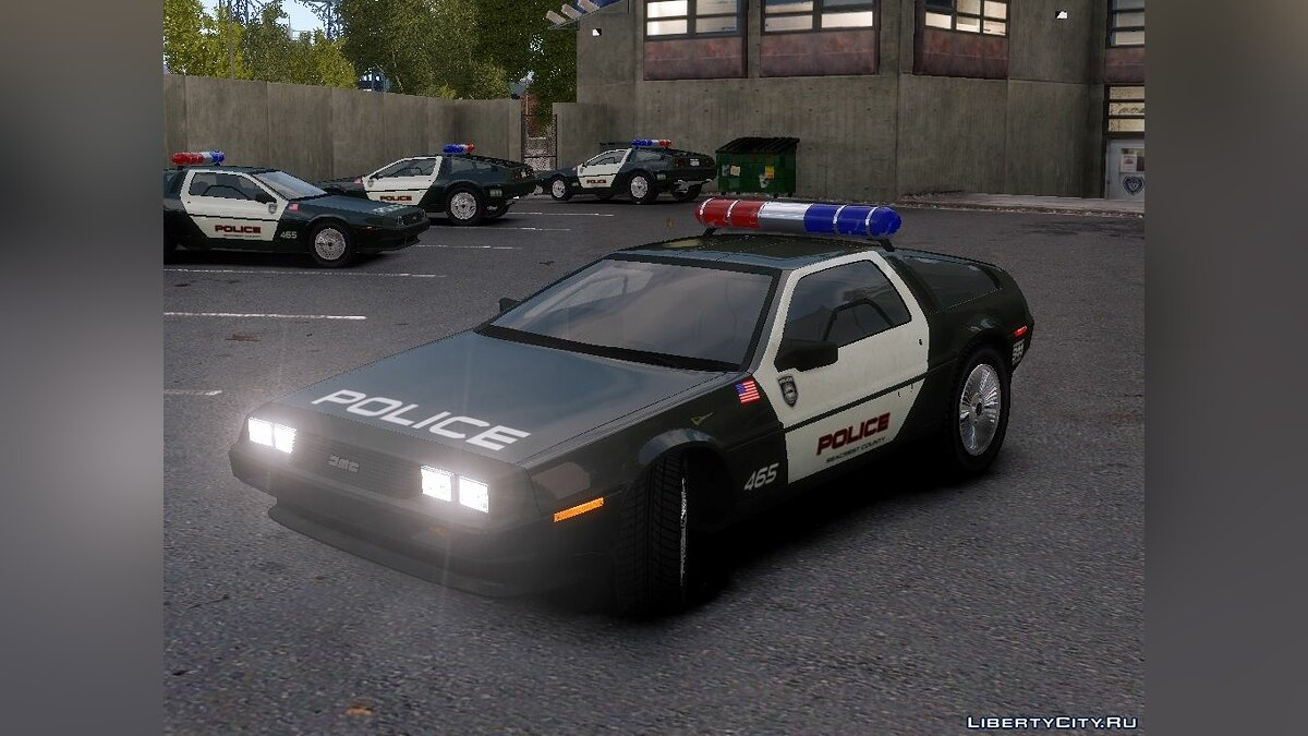 Delorean DMC-12 Police-Final для GTA 4
