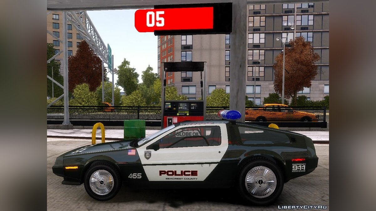 Delorean DMC-12 Police-Final для GTA 4 - скриншот #3