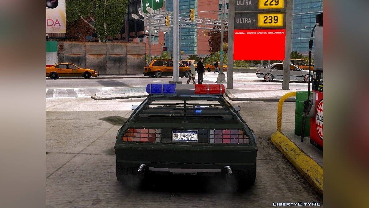 Delorean DMC-12 Police-Final для GTA 4 - скриншот #4