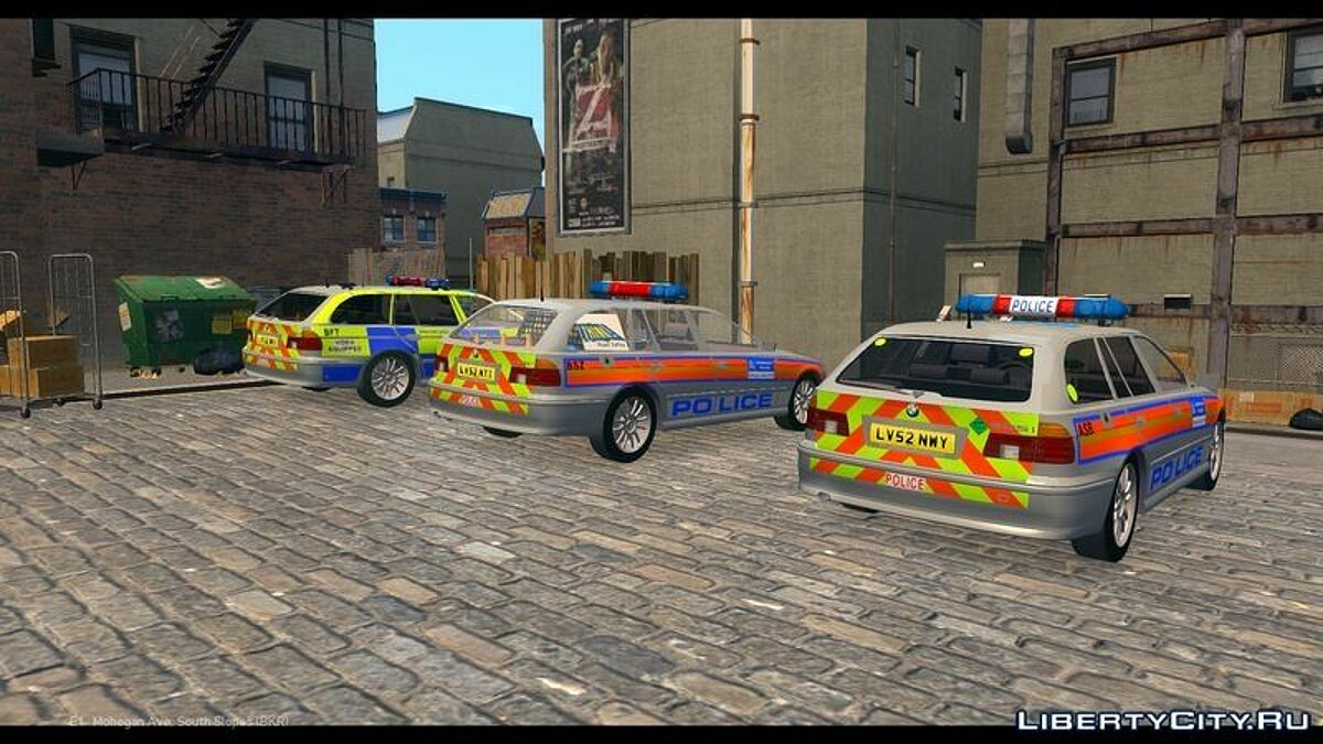 Met Police BMW 5 Series E39 Touring Pack для GTA 4 - скриншот #2