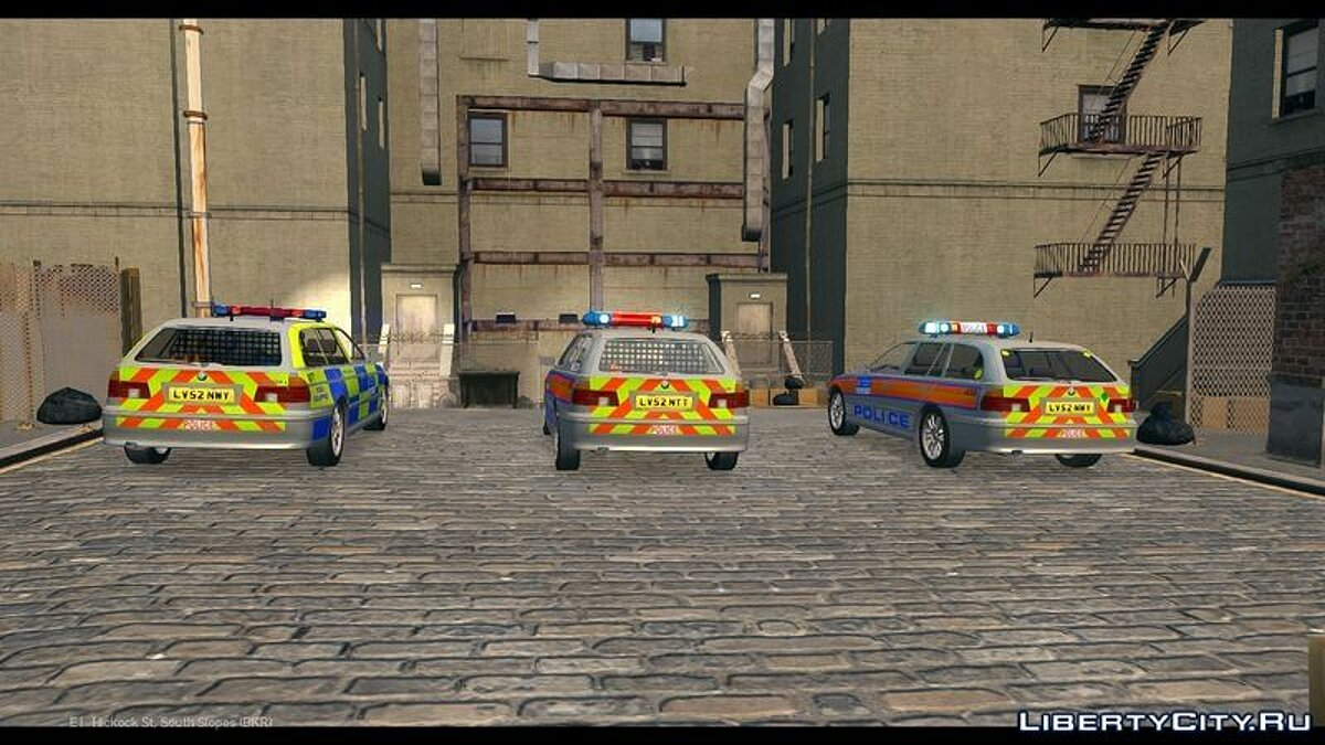 Met Police BMW 5 Series E39 Touring Pack для GTA 4 - скриншот #3