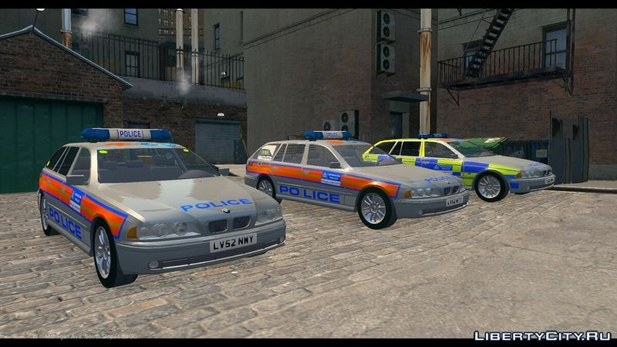 Met Police BMW 5 Series E39 Touring Pack для GTA 4 - скриншот #4