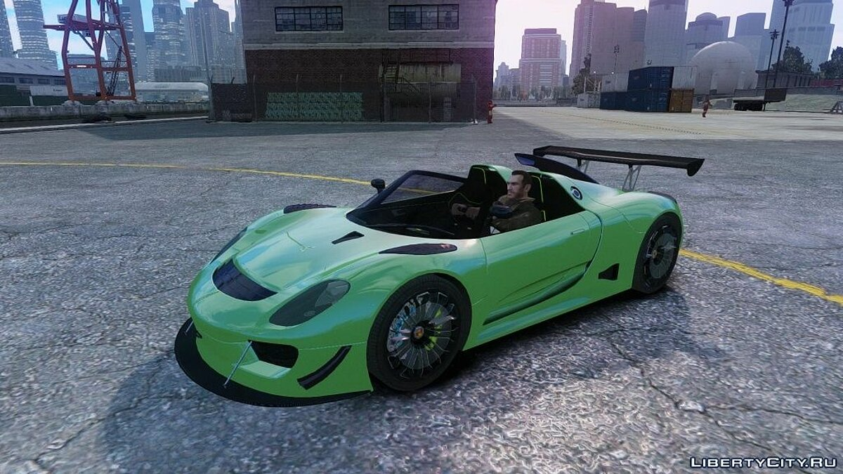 Porsche 918 Spider Body Kit Final Stocк для GTA 4