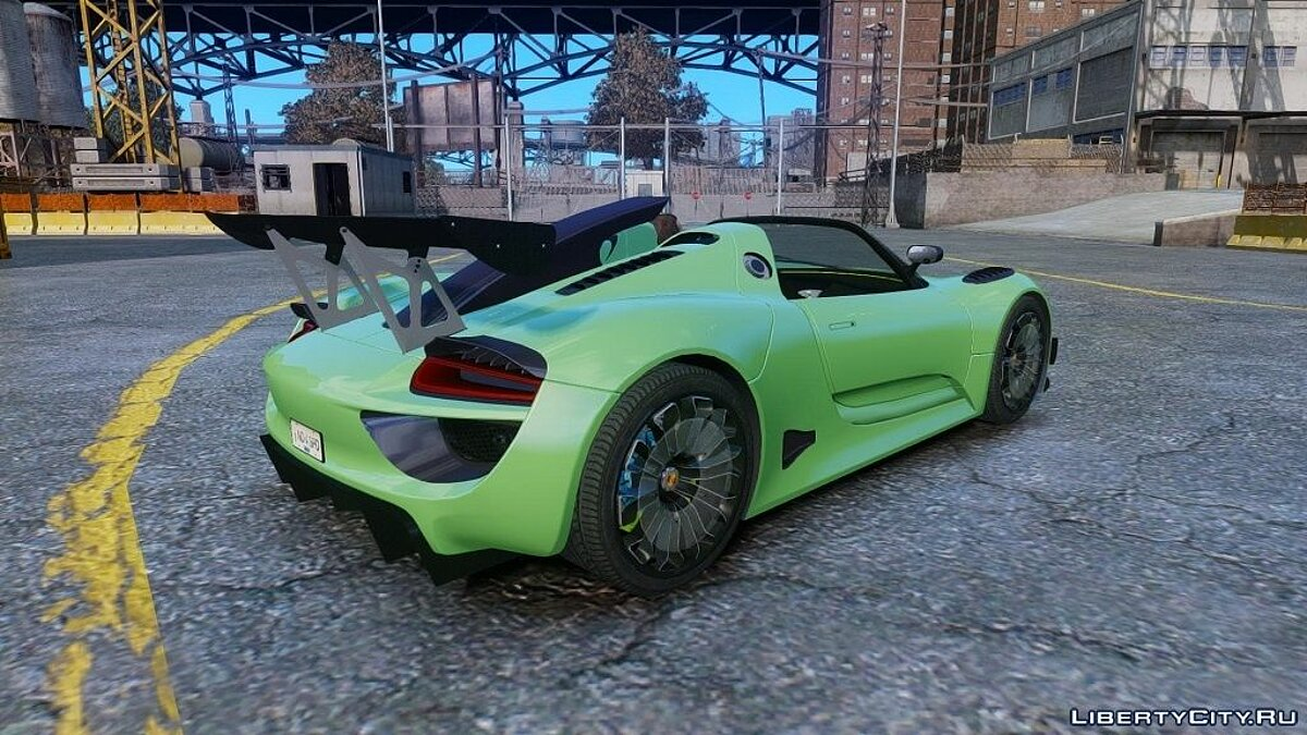 Porsche 918 Spider Body Kit Final Stocк для GTA 4 - скриншот #2