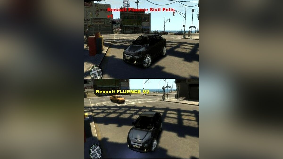 Renault Fluence v2 and Renault Fluence Civil Polis для GTA 4