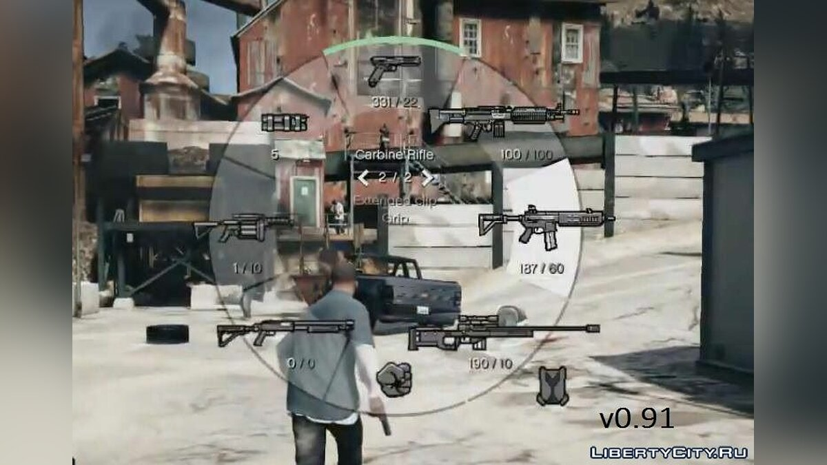GTA 5 Weapon HUD v0.91 для GTA 4