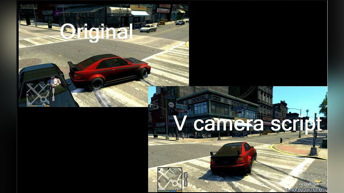GTA IV centered camera for cars (Beta) для GTA 4