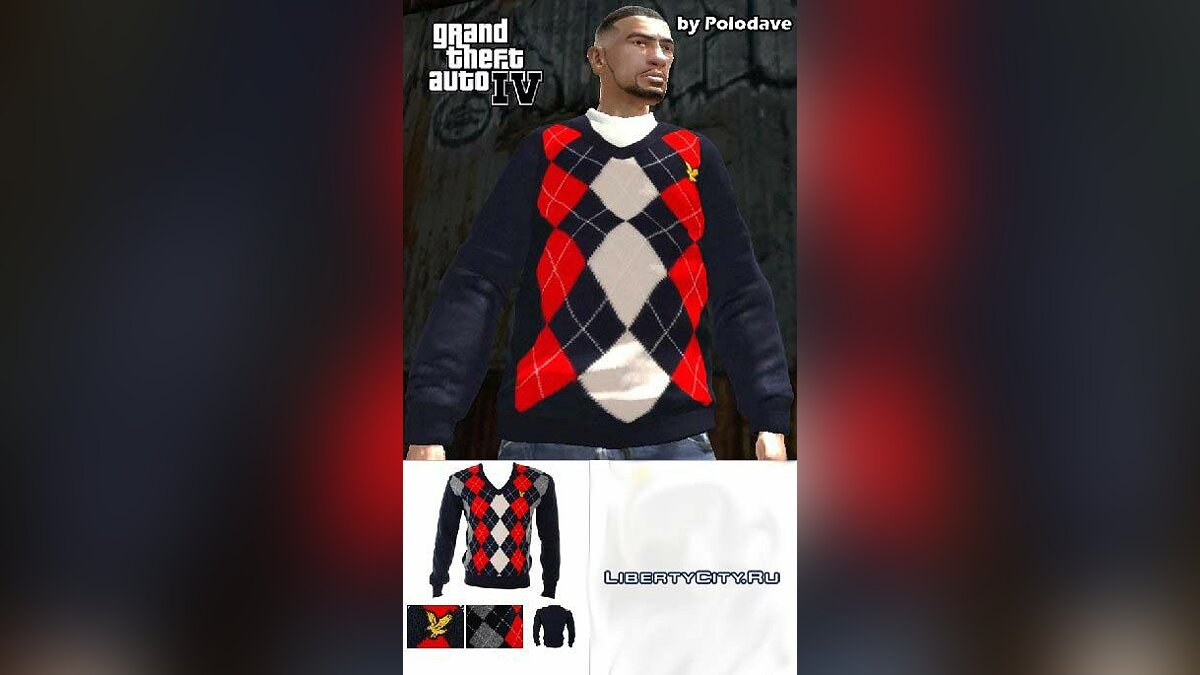 Lyle & Scott V-Neck Sweater для GTA 4