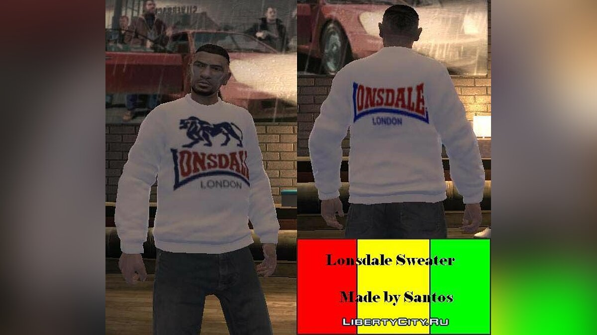 Lonsdale Sweater для GTA 4