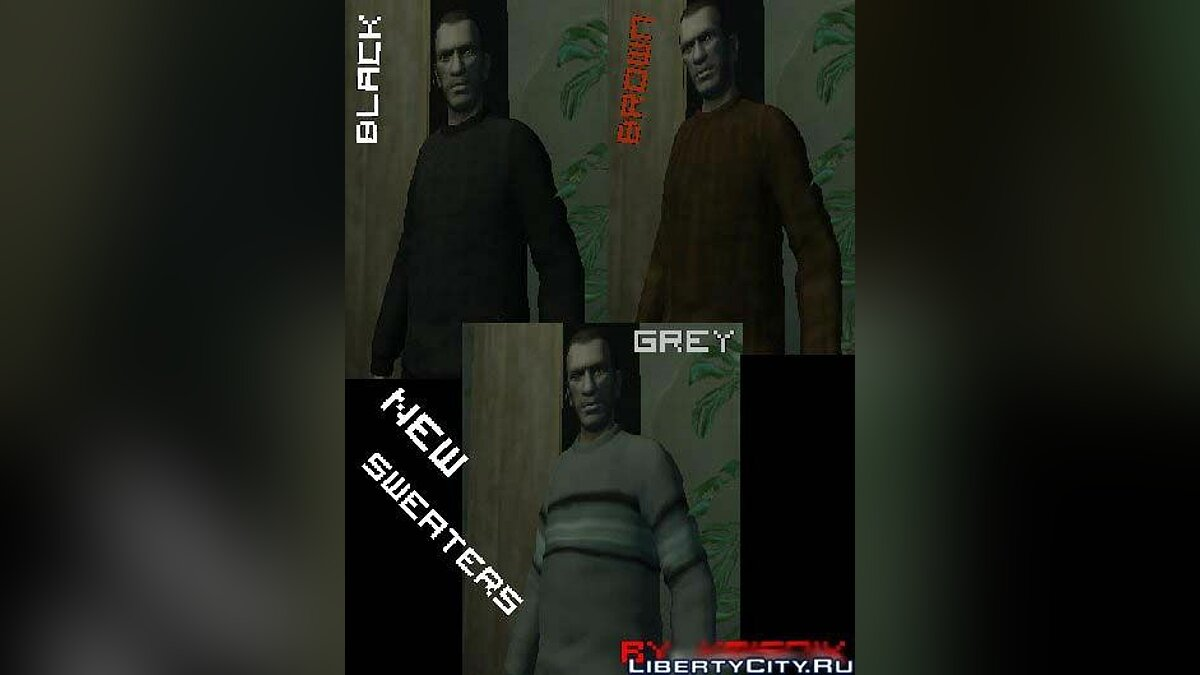 New Sweaters Black, Grey and Brown для GTA 4