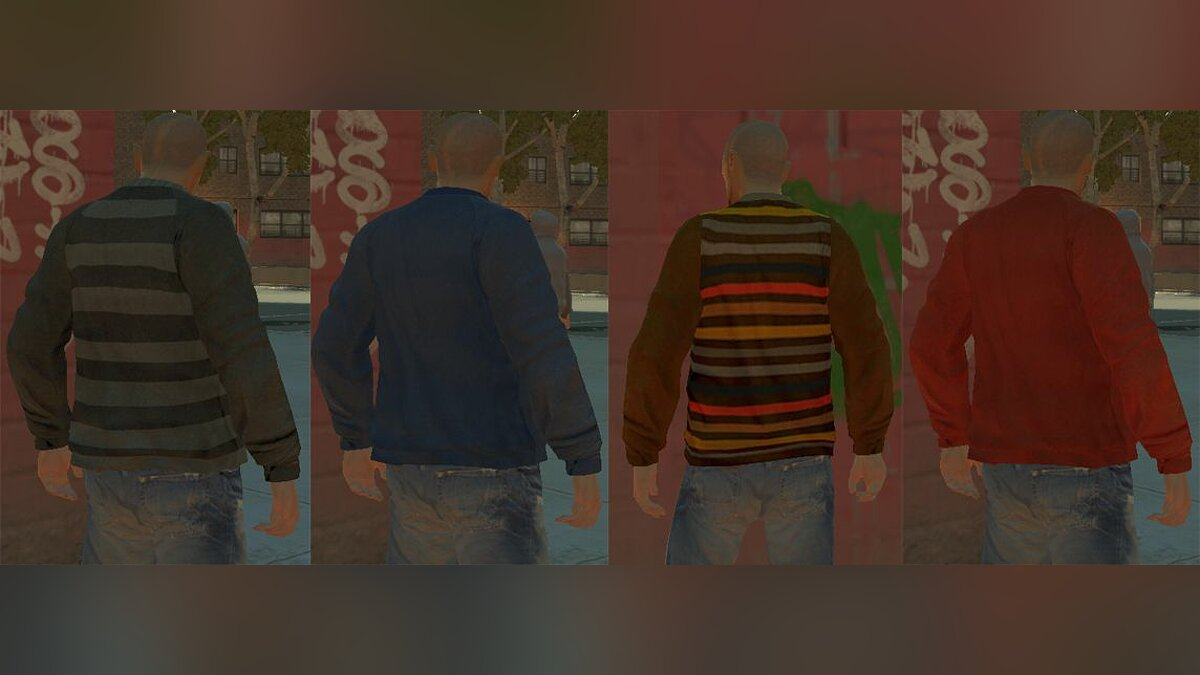 V-Neck Sweaters Pack для GTA 4