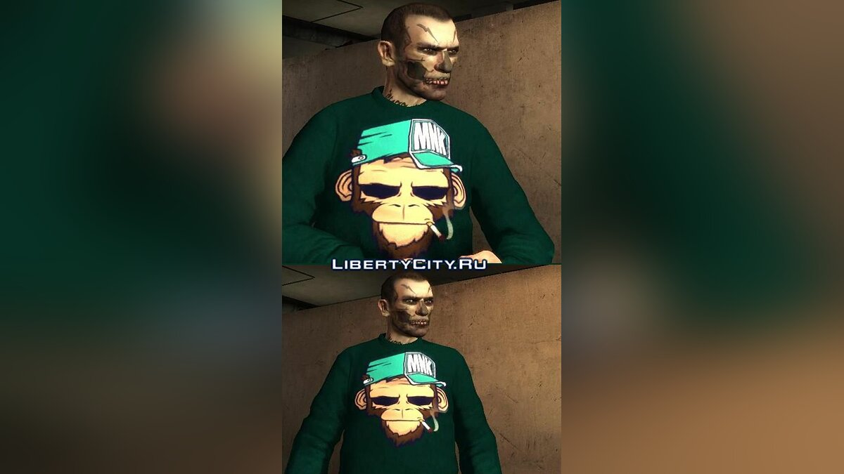 Monkey Sweater для GTA 4