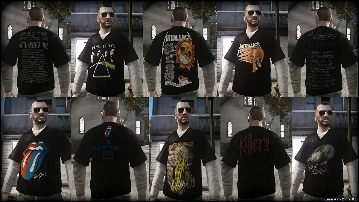 Large T Shirt pack для GTA 4 - скриншот #2