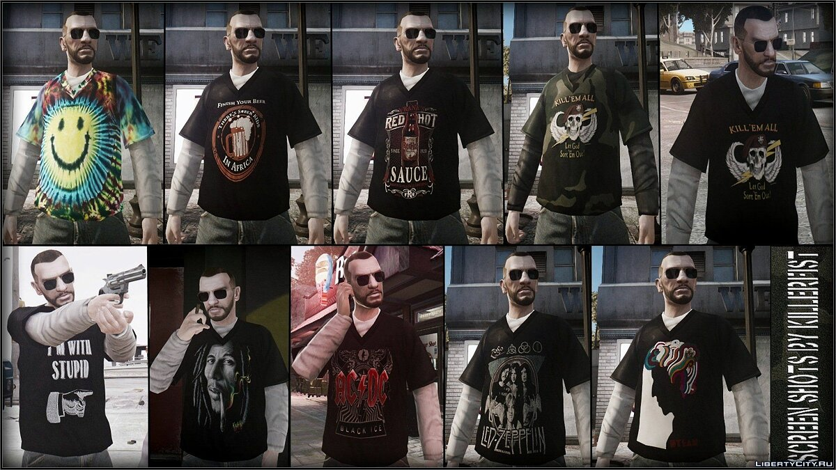 Large T Shirt pack для GTA 4