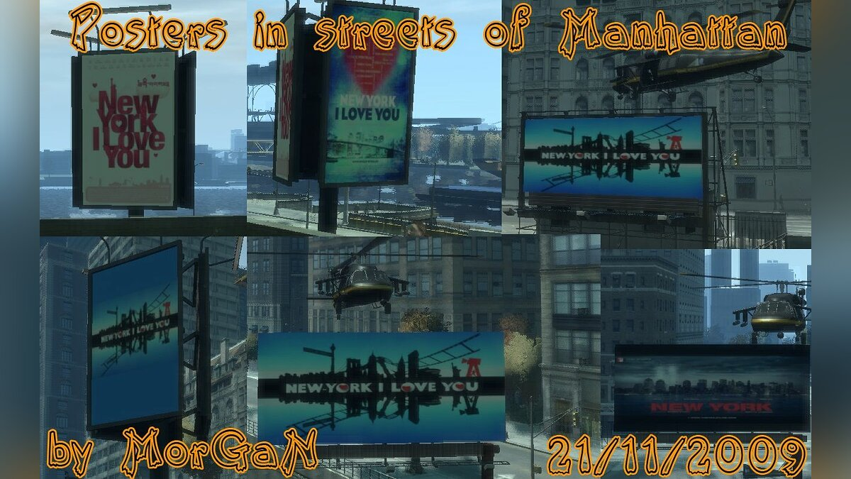 Posters in streets of Manhattan для GTA 4