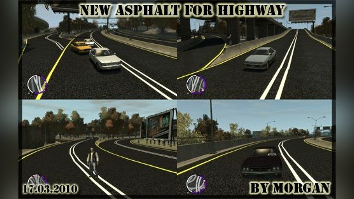 New asphalt for Highway для GTA 4