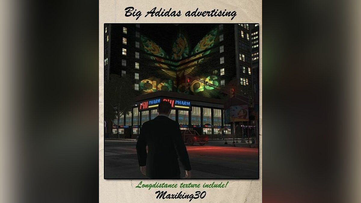 Big Adidas advertising для GTA 4