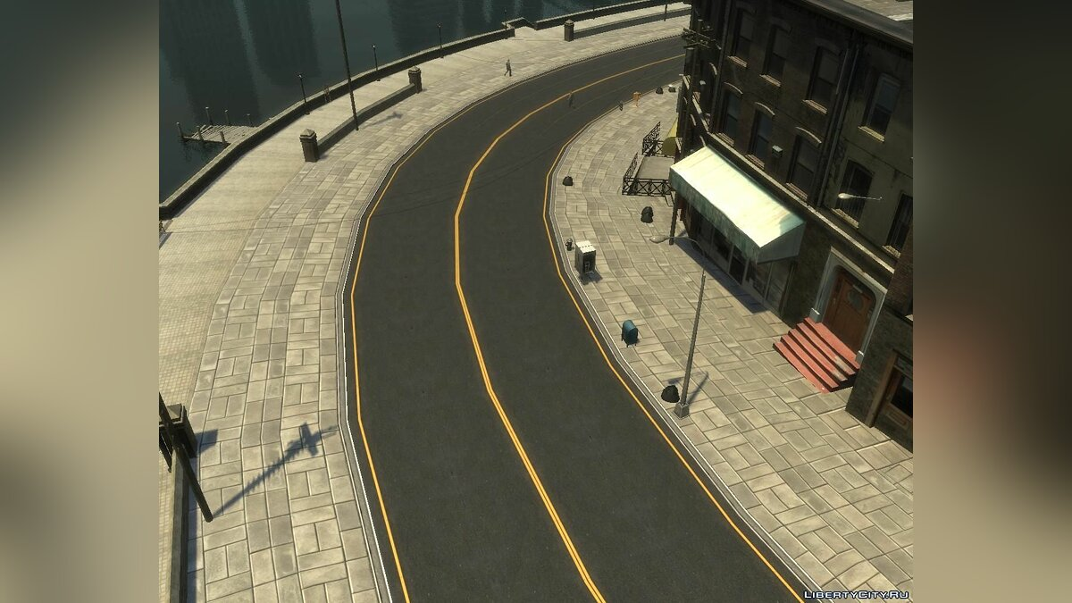 Текстурный мод New Roads + Pavement + Rooftops (Textures - HD) для GTA 4