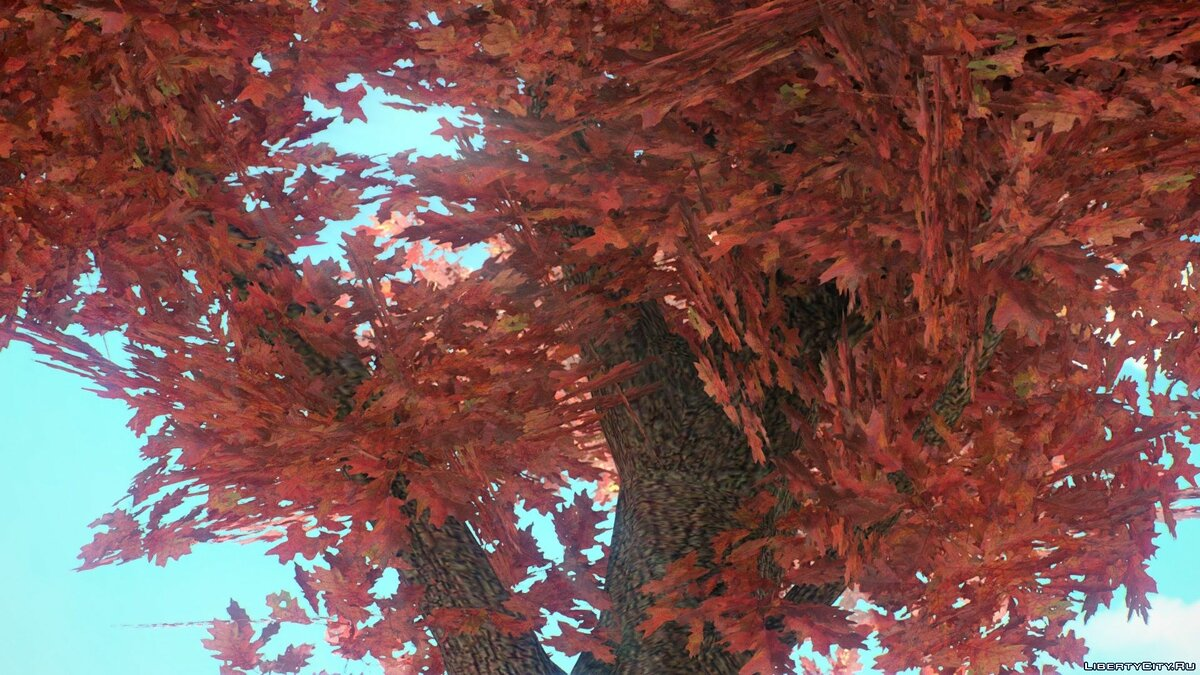 Текстурный мод Autumn Vegetation Textures by BisonSales для GTA 4