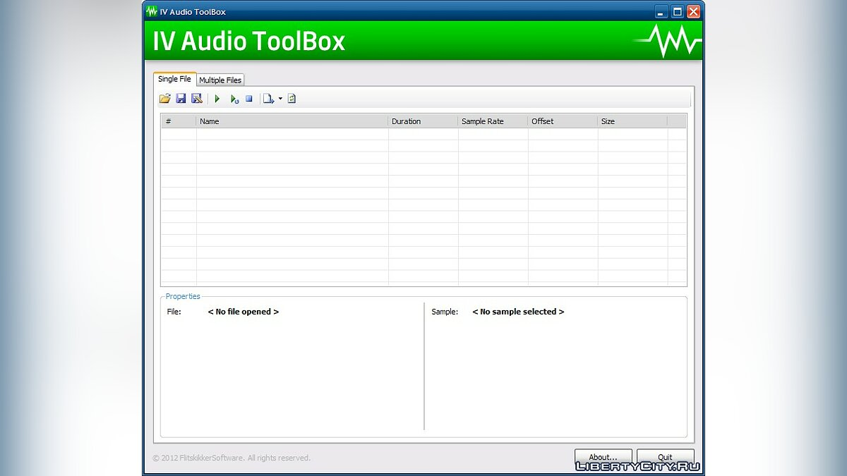 Редактор IV Audio ToolBox для GTA 4