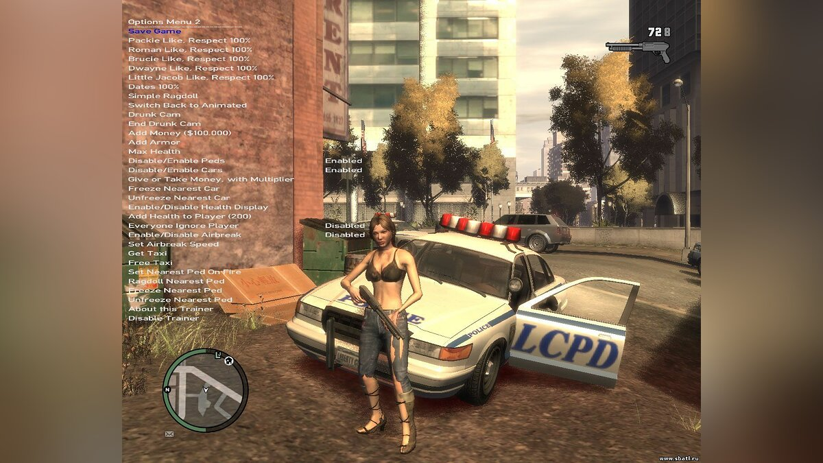 Simple Native Trainer 4.8 для GTA 4