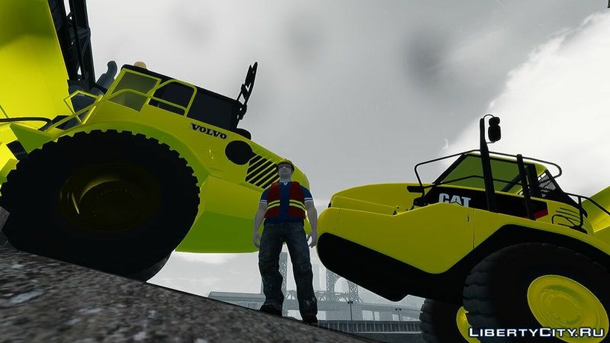 GTA 4 Volvo A25D Articulated Dumper v3.0 для GTA 4