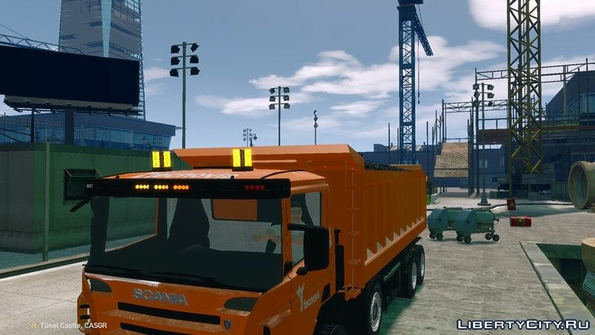Грузовик ELS v6 Scania Dumper P420 AFA AND TECNOVIA PACK для GTA 4