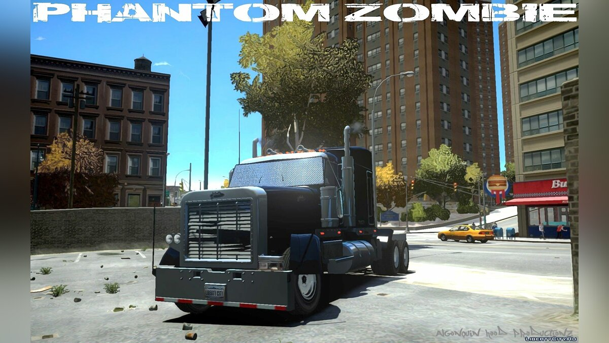 Грузовик Phantom Zombie [FIXED LOD] для GTA 4