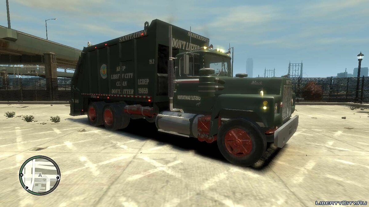 Грузовик Mack R-600 Trash для GTA 4