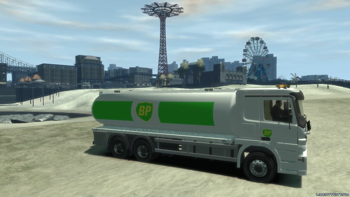 Грузовик Mercedes-Benz BP Gas Fuel для GTA 4