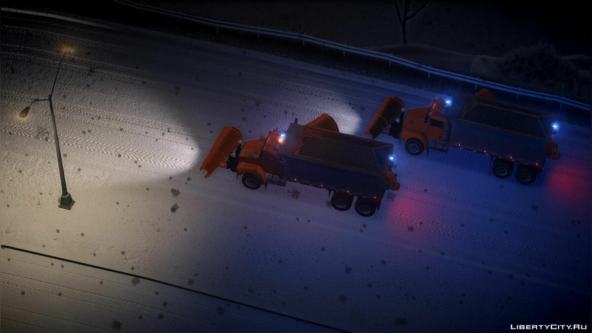 GTA 4 Biff Snow Plow W Movable Side Plow [ELS 8.0] для GTA 4 - скриншот #3