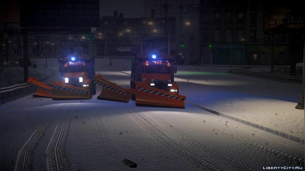 GTA 4 Biff Snow Plow W Movable Side Plow [ELS 8.0] для GTA 4 - скриншот #5