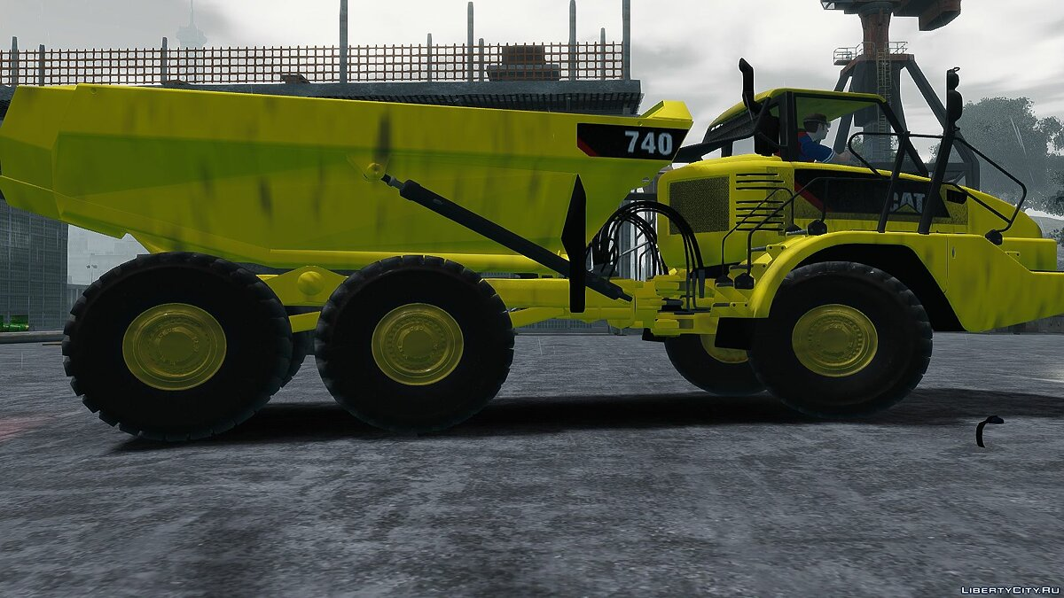 Грузовик CAT 740 Аrticulated Dumper v1.0 для GTA 4