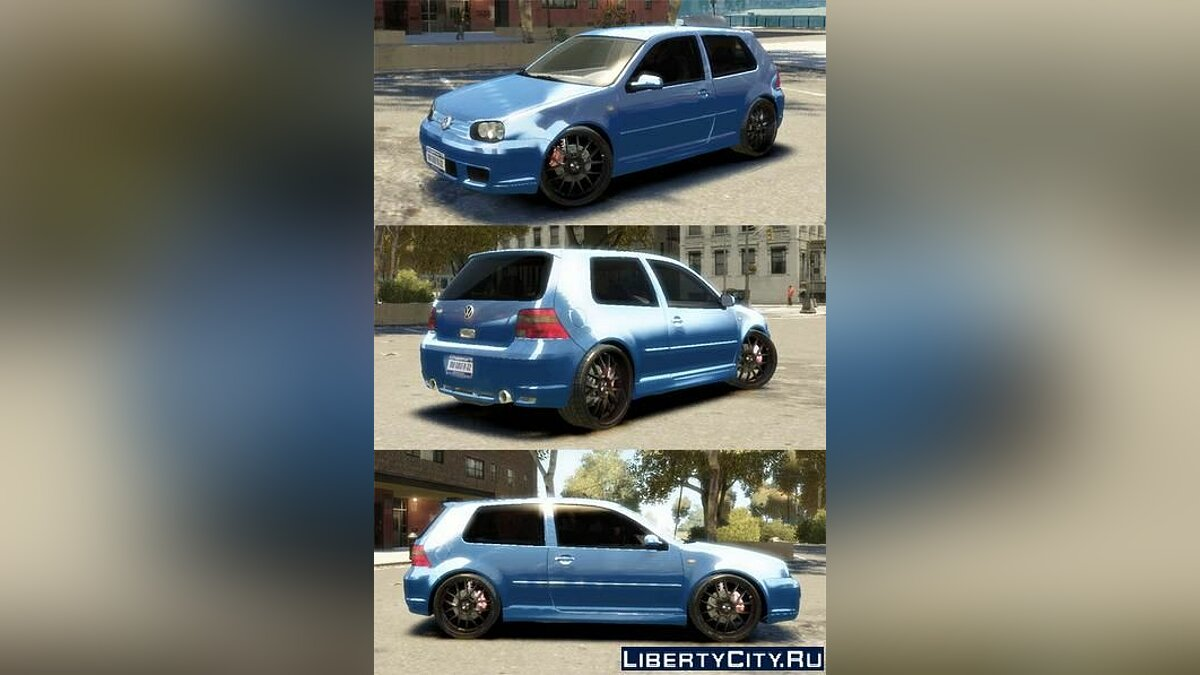 Volkswagen golf 4 r32 2.0 by bean19 для GTA 4