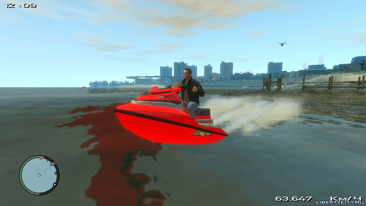 Лодка и катер GTA V Seashark для GTA 4
